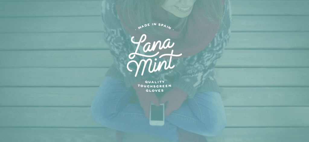 Lana Mint - Guantes Táctiles made in Spain